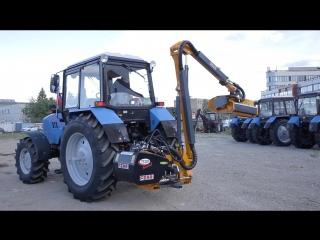 Манипуляторная косилка Ferri T530P на тракторе МТЗ. Презентация на фестивале Аврора Драйв 2018