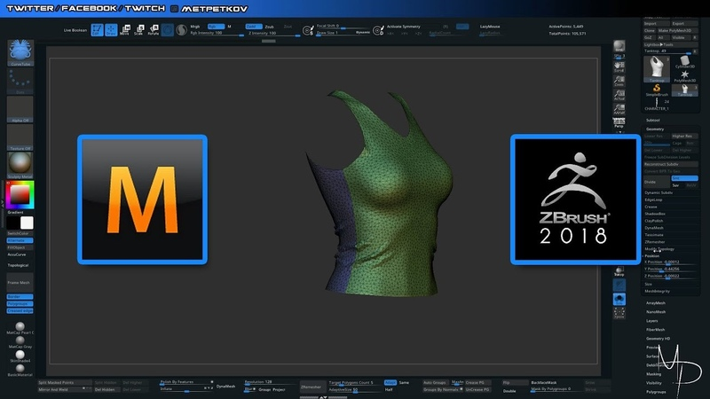Tutorial: Exporting Marvelous designer into Zbrush