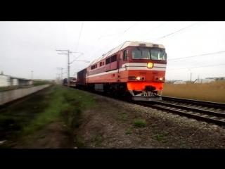 ТЭП70-0343 и паровоз Эр-797-41