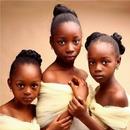 Очаровательные сестрички из Нигерии были признаны самыми красивыми девочками в мире