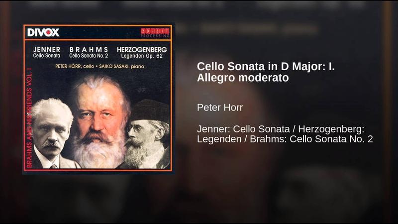 Cello Sonata in D Major: I. Allegro moderato