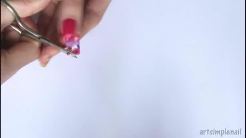 V с водными наклейками слайдер дизайн на весь ноготь Water Decals Nails 1