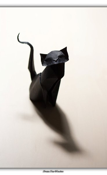 #оригами #кот
