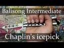 Нож бабочка Балисонг трюки флиппинг средний уровень 6 Chaplin's Icepick
