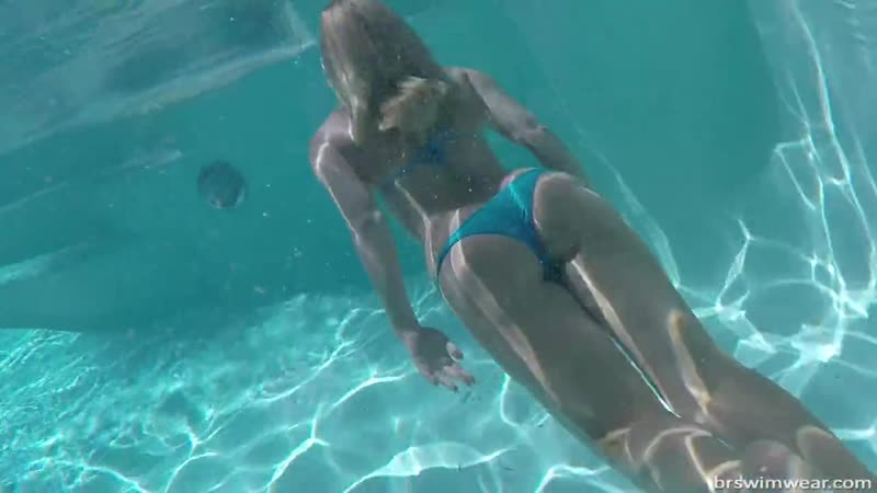 Underwater Angel In Sheer Scrunch Butt Bikini