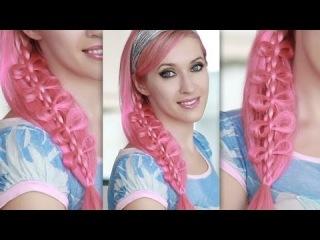 Бантики для волос из атласной ленты своими