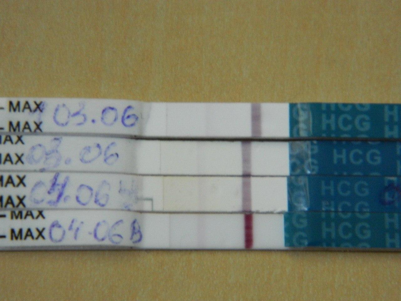 Бледная полоска на тесте на беременность до задержки