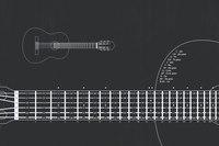 Теги.  Категория.  Ручное изменение размера. гриф. гитара.  Позвать друзей. аккорды.