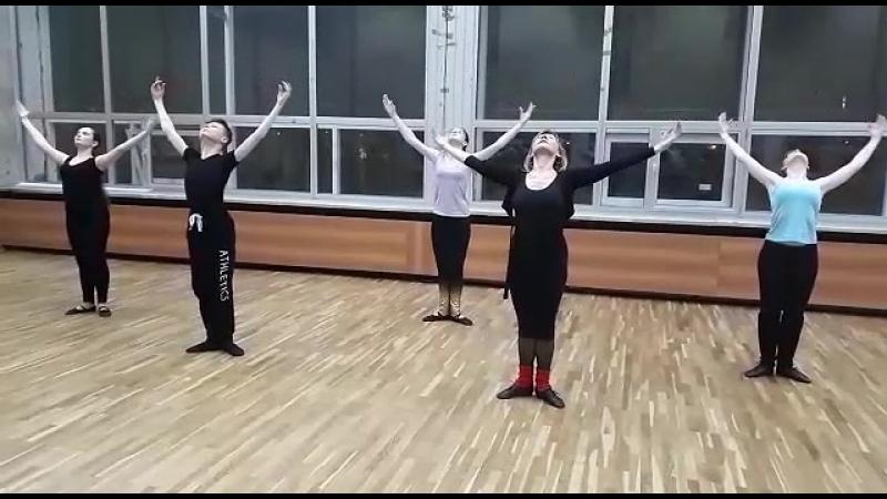 Plie в стиле модерн Я и мои ученики танцоры бального танца ТСК Прожектор