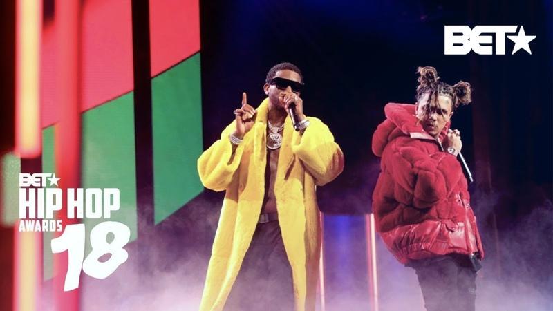 Lil Pump Performs Gucci Gang w/ Gucci Mane!   Hip Hop Awards 2018
