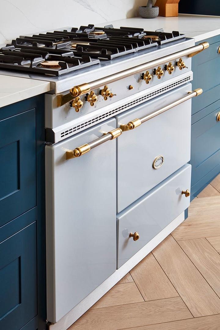 Идеальная синяя кухня #кухня