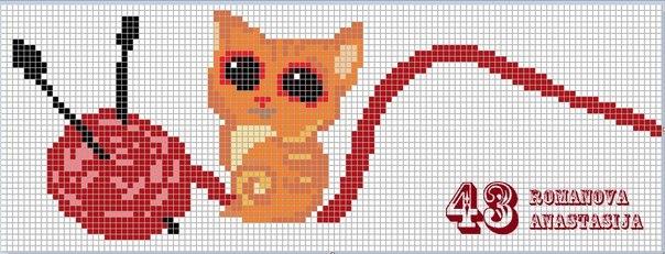 """Схемы прямого плетения """"Кошки"""""""
