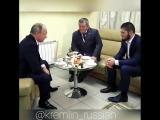 Встреча с российским борцом Хабибом Нурмагомедовым.