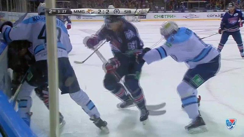 Моменты из матчей КХЛ сезона 14 15 Гол 2 2 Зарипов Данис Металлург Мг забросил шайбу и сравнял счет в матче 17 03