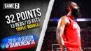 James Harden Triple-Double 2019 WCR1 Game 2 Rockets vs Jazz - 32-13-10!   FreeDawkins