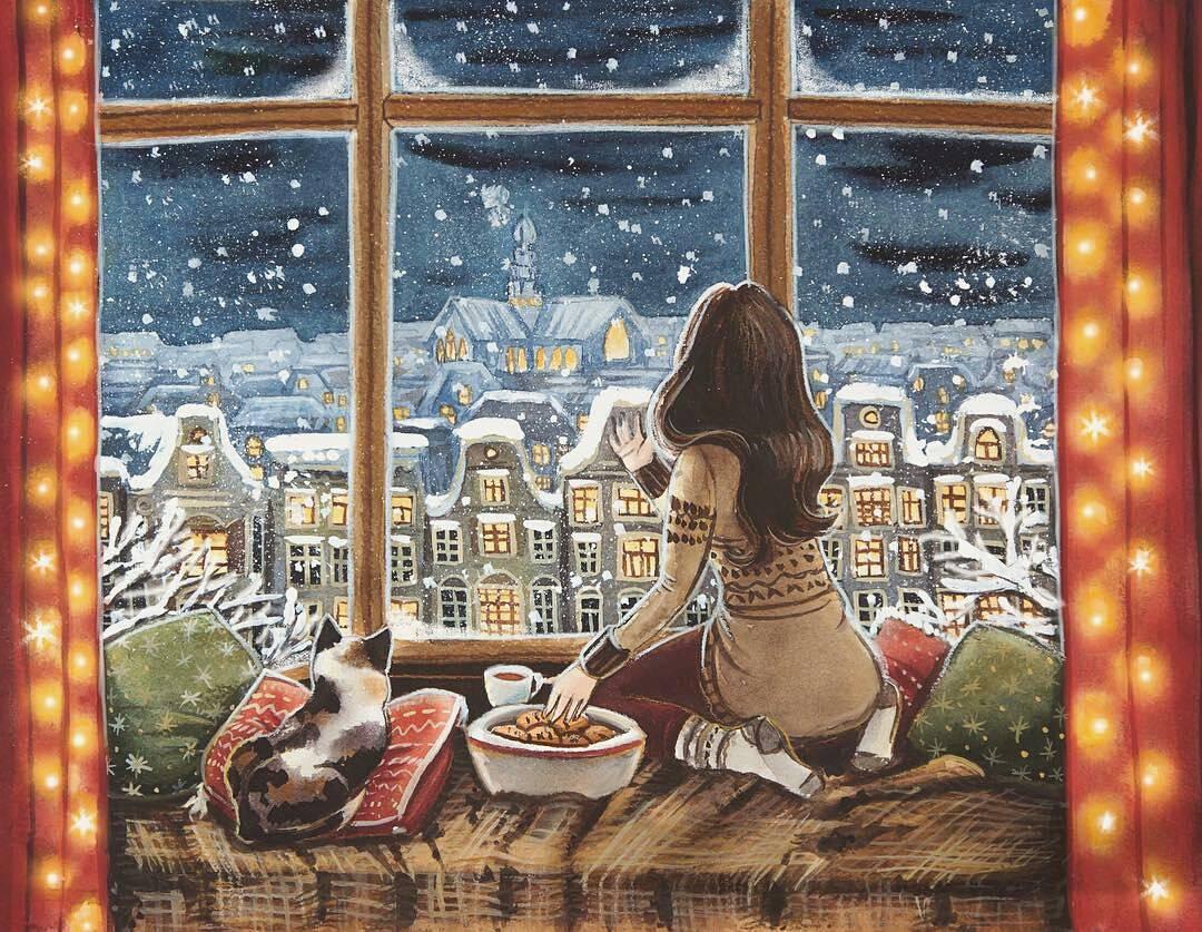 Картинки домашний уют у окна