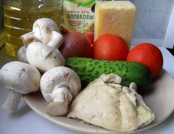 """Салат """"Клубничка"""". Для приготовления нам понадобятся следующие ингредиенты: 1."""