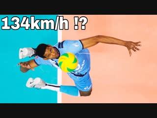 New world record ! wilfredo leon serve 134 km h (hd)