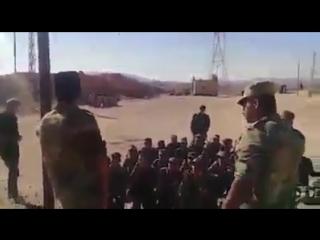 Обучение солдат в сирийской армии.