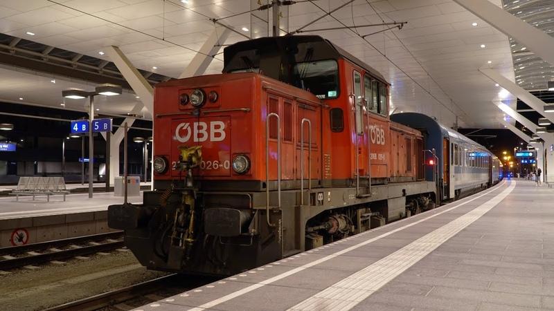 Zugverkehr in der Nacht | Salzburg Hbf [4k]