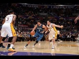 Ricky Rubio Goes for a Triple-Double in L.A.