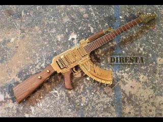 Как сделать автомат Калашникова АК-47 из гитары?