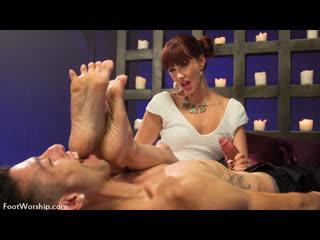 Maitresse madeline [hd porn, redhead, foot fetish sex, pov, feet, femdom, blowjob, worship, handjob, cumshot]