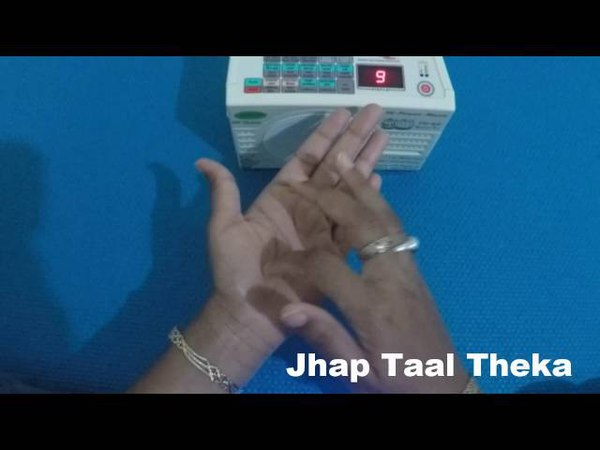 Practice Kathak Jhap Taal (Dugun) with Taal machine - How to theka on hand