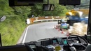 CRAZY Japanese BUS DRIVER DRIFTING DOWNHILL Initial D