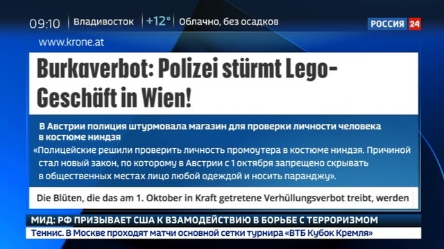 Новости на Россия 24 • В Австрии полиция штурмовала магазин игрушек для проверки личности ниндзя