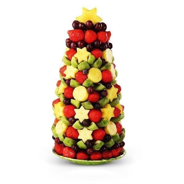 Съедобные ёлочки для новогоднего стола.