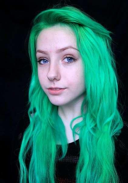 как сделать салатовые волосы в фотошопе