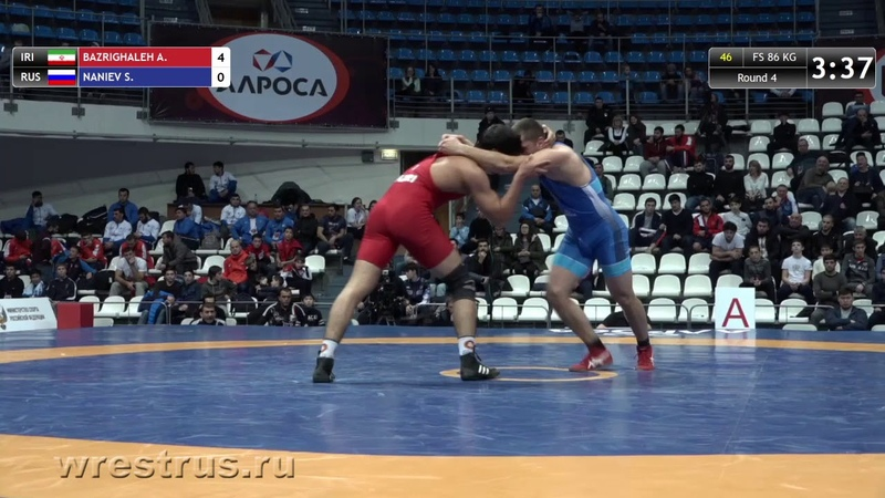 86 kg Ahmad Yousef BAZRIGHALEH IRI Slavik NANIEV RUS