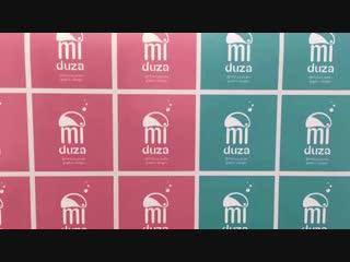 Изготовили интересные стикеры 5 см. на немецкой матовой пленке 3 руб./шт. для Студии графического дизайна @miduza_studio