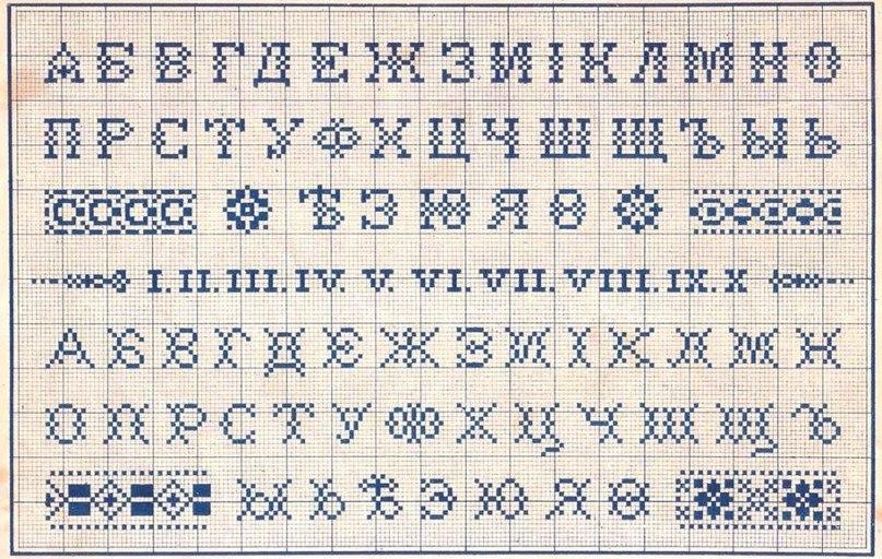 Вышивка крестом азбука схемы