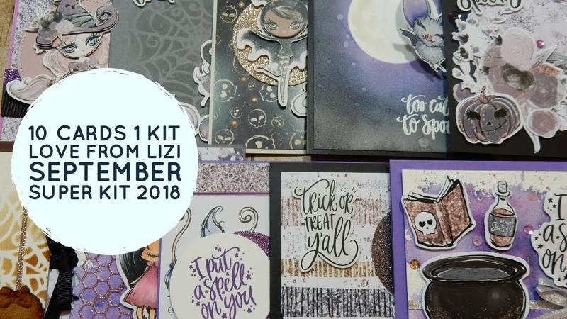 10 Cards 1 Kit | Love from Lizi | September 2018