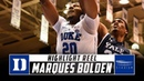 Marques Bolden Duke Basketball Highlights - 2018-19 Season | Stadium