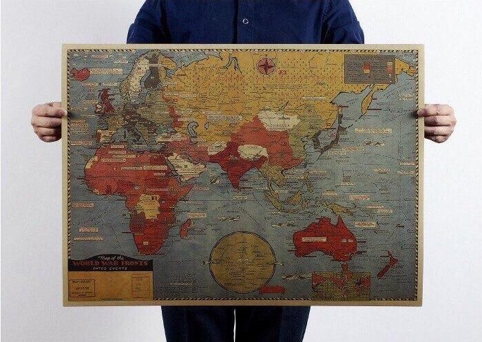 Ретро-карта мира -