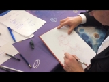 Автор «Звездного замка» Алекс Алис рисует скетч