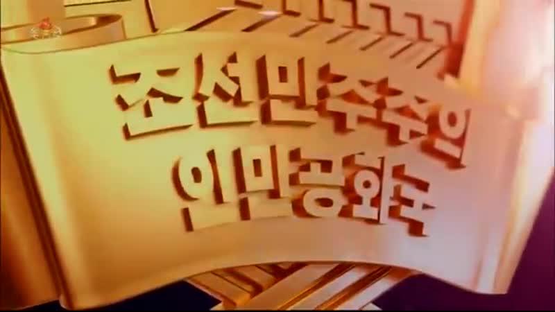 최고인민회의 대의원들을 위한 예술공연 《우리의 국기》