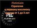 Platincoin Платинкоин Стратегия к первому миллиону от Алекса Райнхардта сроком от 1 до 3 лет
