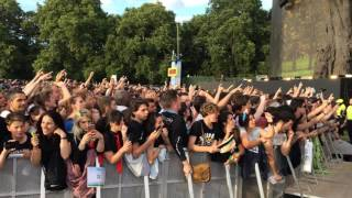 Crowd singing Bohemian Rhapsody - Before Green Day concert 010717. Hyde Park, London.