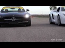 Драг рейсинг Mercedes SLS AMG vs Porsche 911 Turbo S vs Lamborghini Gallardo LP4 560