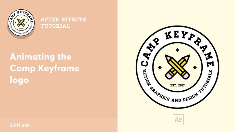 Animating the Camp Keyframe logo After Effects Tutorial