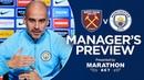 Pep Guardiola previews West Ham v City   PRESS CONFERENCE