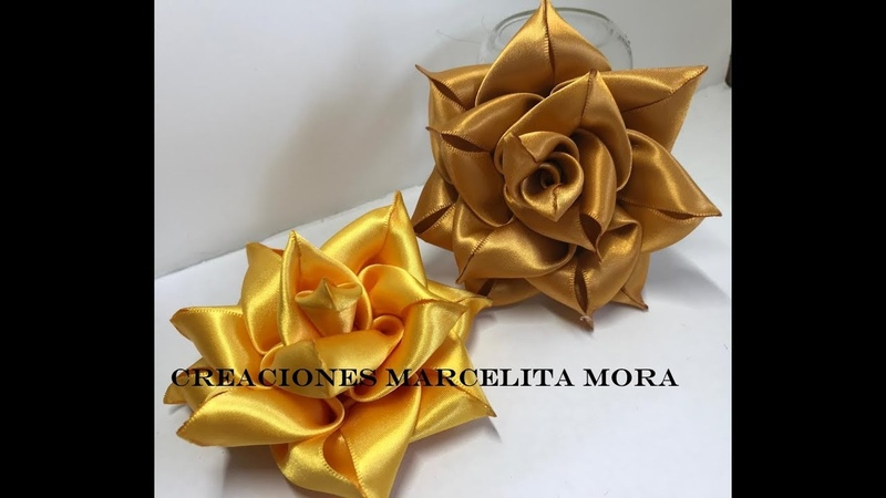 DIY- Como Hacer una Rosa en Picos/ Rose Flower beak/ Roses/Розаクリップ簪