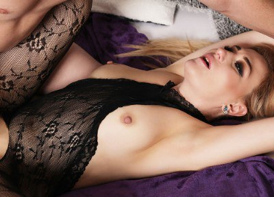 Wet MILF in bodystocking squirts