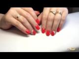 Коррекция нарощенных ногтей гелем, покрытие гель лаком