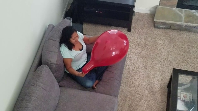 Balloon popped from blowing too big
