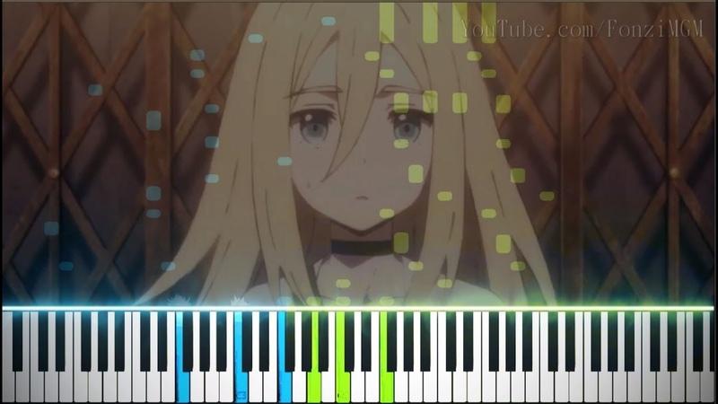 Satsuriku no Tenshi ED Pray Haruka Chisuga Synthesia Piano Tutorial